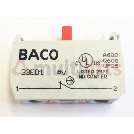 BLOQUE CONTACTO BACO 33E01 1NC TERMINAL ROSCADO