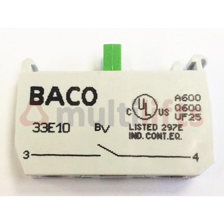 BLOQUE DE CONTACTOS BACO 33E10 1NA TERMINAL ROSCADO