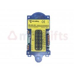 TELEFONO EMERGENCIA ANALOGICO MK842 MICROKEY MK84200MK1