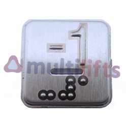COVER CEHAM SQ BRAILLE -1LED CENTRAL