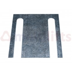 GUIDE SHOE BRACKET COUPLER 140 130X120 (1MM THICKNESS)