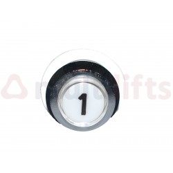 PUSHBUTTON ALJO PD35 ROUND LOW BEVELED CHROME 8110020017-1