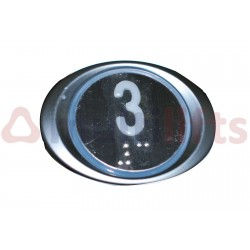 "PUSHBUTTON JMT BA541 1 CONTACT BLUE 24V ""3"""