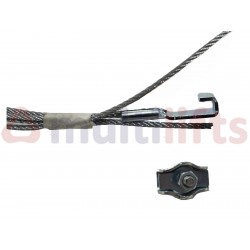 EMERGENCY SPRING CABLE WITTUR 1 TERMINAL L-2510MM