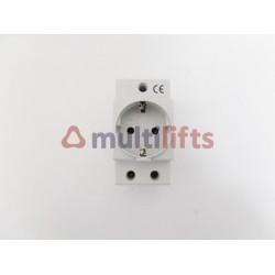 FIXING PLUG CARRIL DIN 2P+T 250V