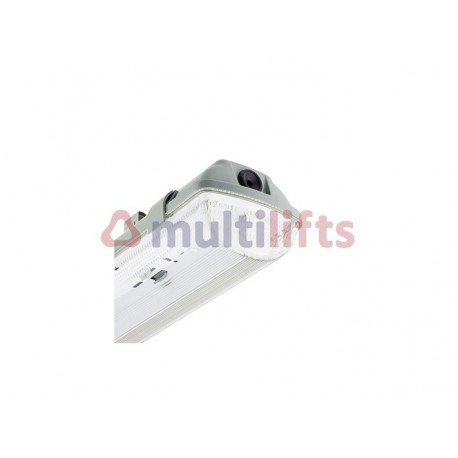 PANTALLA ESTANCA PARA 2 TUBOS LED 600MM