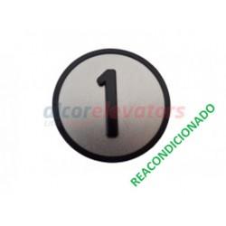 CARÁTULA PULSADOR CABINA 1 KSS (REACONDICIONADO) KONE KM801054G001