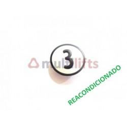 CARATULA PULSADOR CAB 3 KSS KONE (REACONDICIONADO) KONE KM801054G003