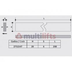 MAGNET FOR MONOSTABLE SENSOR 20 X 6 X 200MM