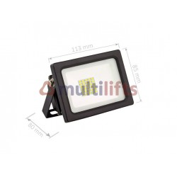 PROJECTOR FOCUS LED 10W WHITE COLD 6000K