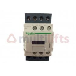 CONTACTOR SCHNEIDER 4P 20A AC1 1NA/1NC 24VDC LC1DT20BD