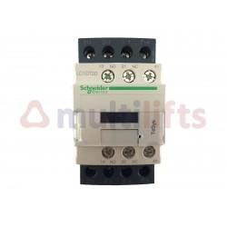 CONTACTOR SCHNEIDER 4P 20A AC1 1NA/1NC 230VAC LC1DT20P7