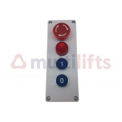 COMPLETE FACE PLATE FOR LIFT TRUCK 2 STOPS + PILOT + STOP
