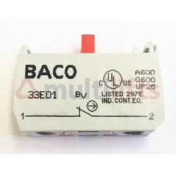 BLOCK CONTACTOR BACO 33E01 1NC THREADED TERMINAL