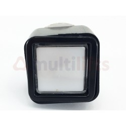 PUSH BUTTON QBP SQUARE BLACK BRIGHT 12V