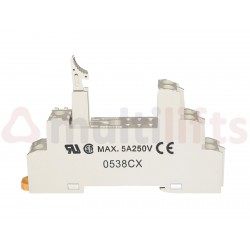 RELAY BASE OMRON G2R-2-S 8 PINES CARRIL DIN