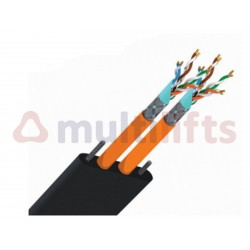 CABLE PLANO 2 COAXIAL