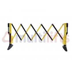 EXTENSIBLE SIGNALING FENCE 3X1 M 10.5 KG BLACK - YELLOW