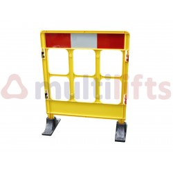 YELLOW SIGNALING FENCE WITH TWO BASES 1 MODULE 0.85 X 1.00 M