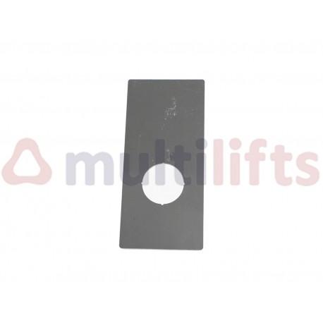 PLACA BOTONERA MB 1 PULSADOR INOXIDABLE 1.2X59X129