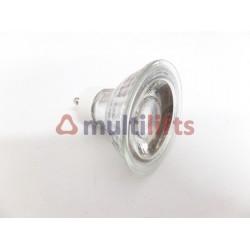 LAMPARA LED GU10 COB CRISTAL 220V 5W BLANCO FRIO