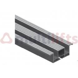 ALUMINUM REISED CANAL 16MM D 918X90X30 MM MODEL 40/10 SLIM T3H PL 650