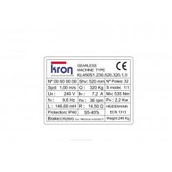 MACHINE KRON KL450S1 GEARLESS
