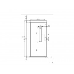 DOOR FILLER SWING SEMIAUTO MEV PL900 RIGHT POSTS 125MM LENGTH 125MM WITHOUT HOLE BOT