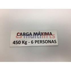 ALUMINUM ROTULO MAXIMUM LOAD 450KG/6P